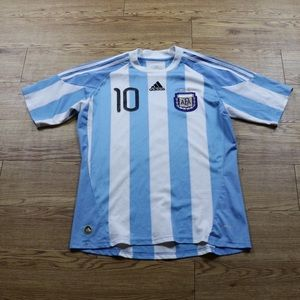 Messi AFA Argentina Adidas Soccer Jersey